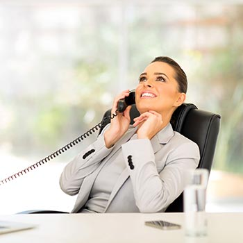 Relaxed Business Woman on Phone