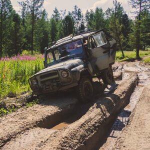 Truck in a Rut