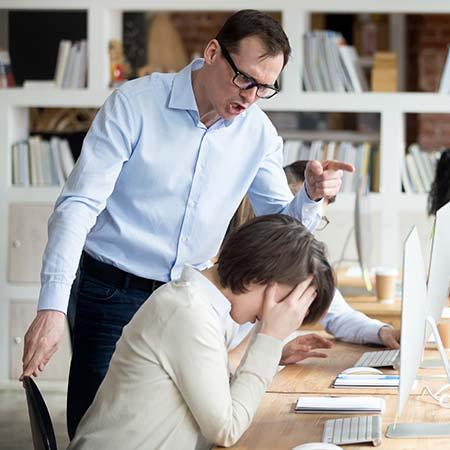 Boss Reprimanding Employee