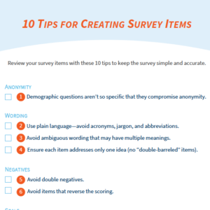 Tips for Survey Items